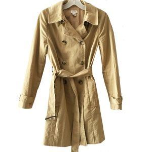 J. Crew Iconic classic khaki trench coat